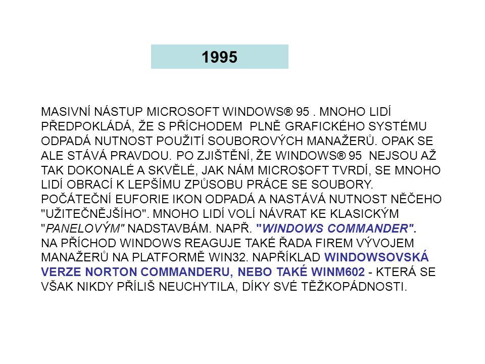 PŘÍCHOD MICROSOFT WINDOWS® 98.