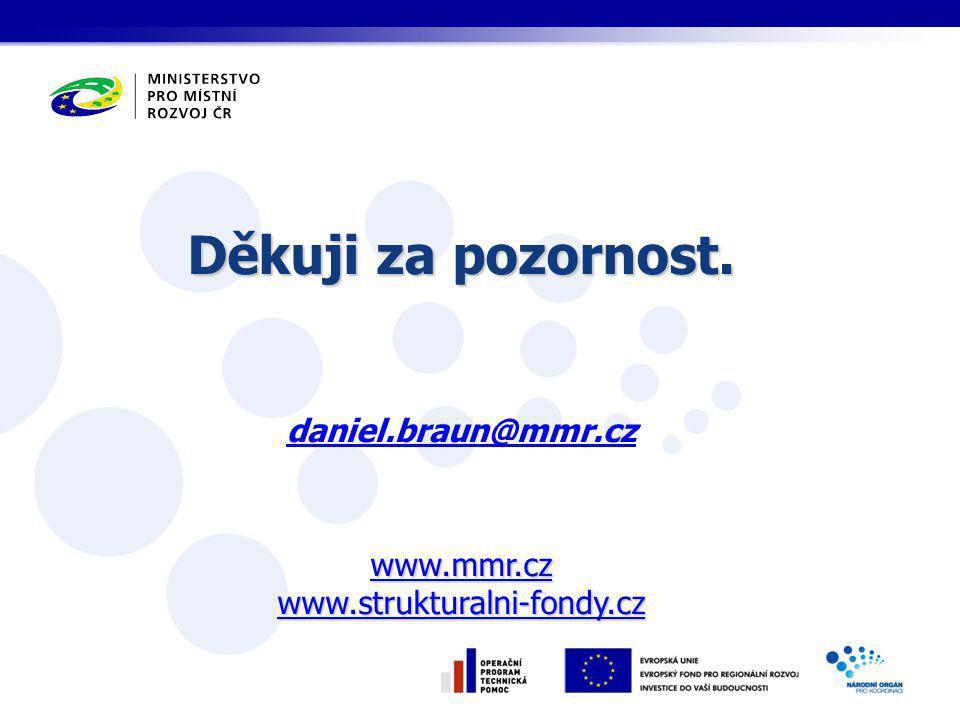 Děkuji za pozornost. www.mmr.cz www.strukturalni-fondy.cz Děkuji za pozornost.