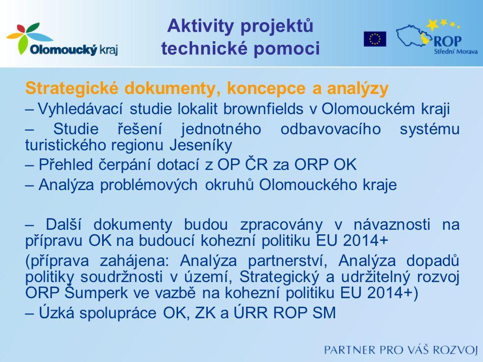 Strategické dokumenty, koncepce a analýzy – Vyhledávací studie lokalit brownfields v Olomouckém kraji – Studie řešení jednotného odbavovacího systému