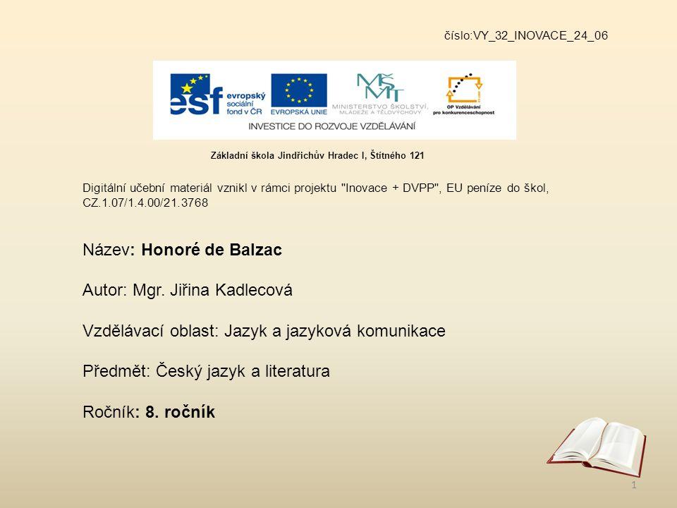 číslo:VY_32_INOVACE_24_06 Digitální učební materiál vznikl v rámci projektu
