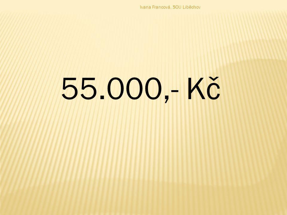 55.000,- Kč Ivana Francová, SOU Liběchov