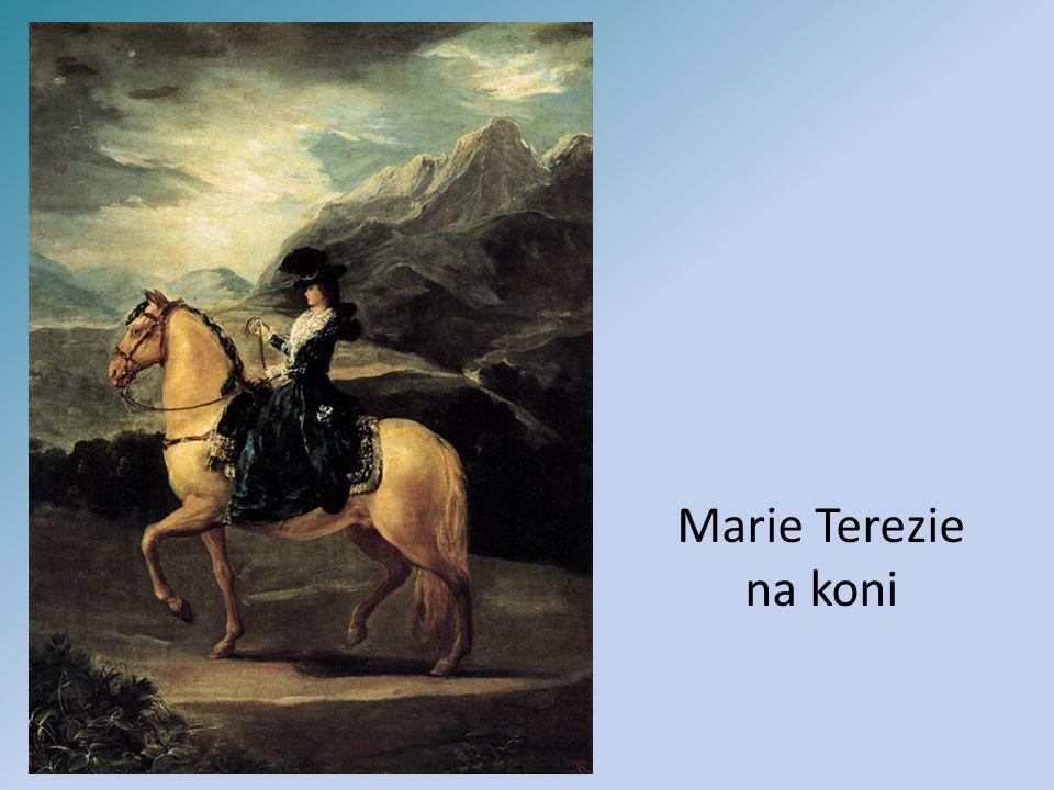 Marie Terezie na koni