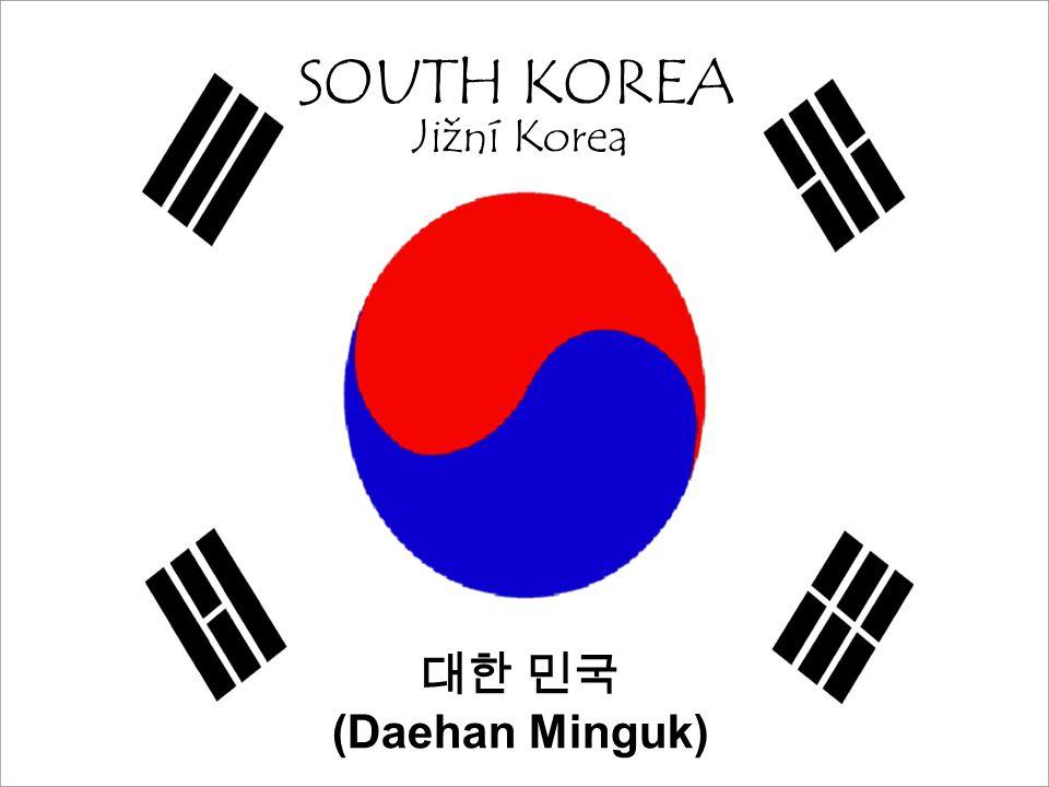 SOUTH KOREA Jižní Korea 대한 민국 (Daehan Minguk)