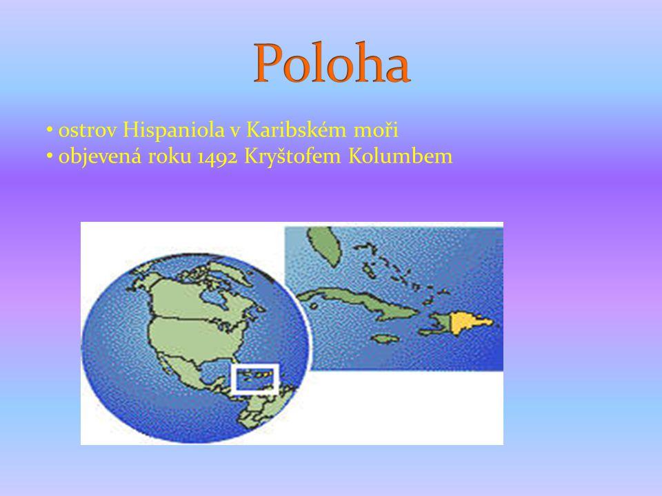 1) Který stát leží na ostrově Hispaniola spolu s Dom.