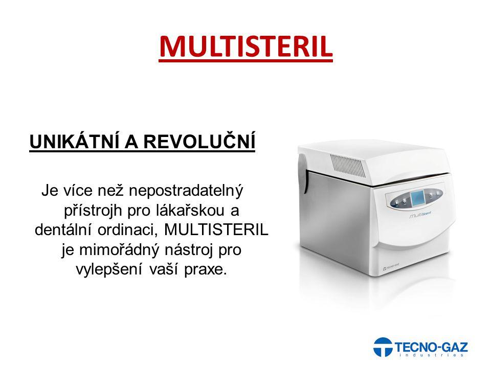 MULTISTERIL UNIKÁTNÍ A REVOLUČNÍ Je více než nepostradatelný přístrojh pro lákařskou a dentální ordinaci, MULTISTERIL je mimořádný nástroj pro vylepše