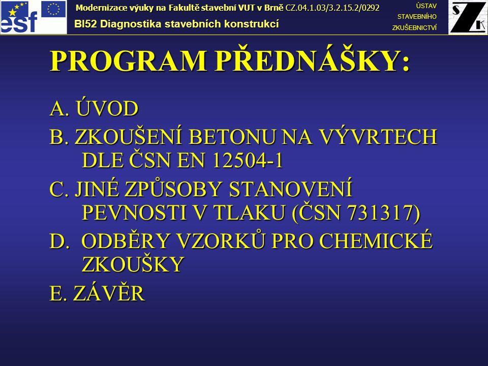 OBSAH CHLORIDŮ V BETONU U konstrukcí vystavených solení (mosty, vozovky apod.).