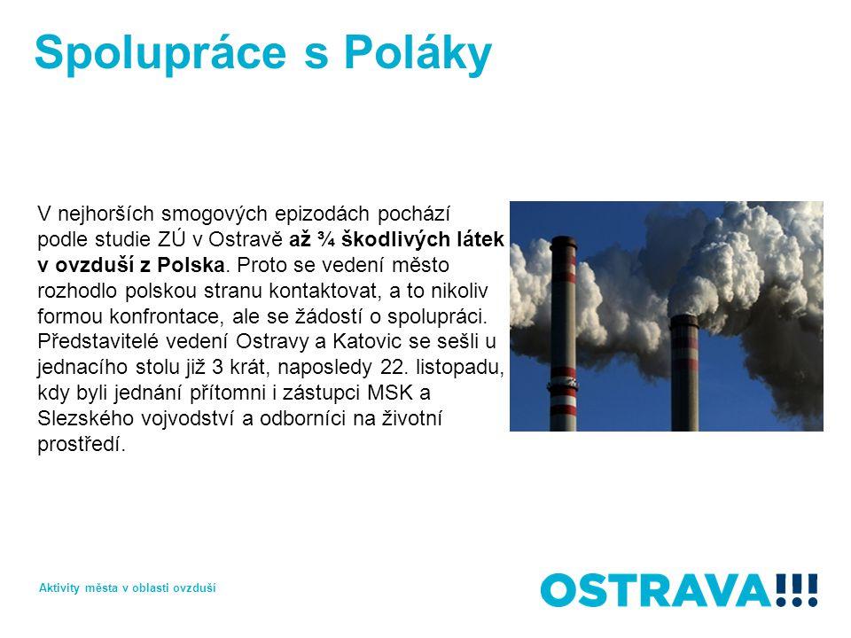 Spolupráce s Poláky V nejhorších smogových epizodách pochází podle studie ZÚ v Ostravě až ¾ škodlivých látek v ovzduší z Polska. Proto se vedení město