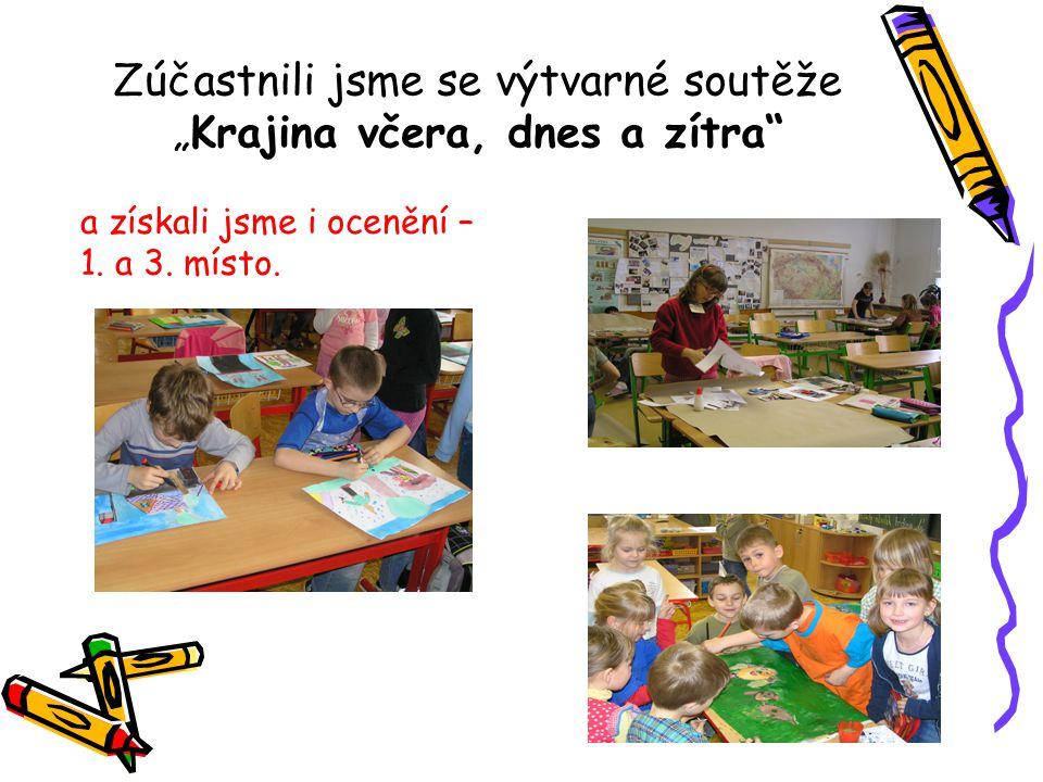 """Zúčastnili jsme se výtvarné soutěže """"Krajina včera, dnes a zítra a získali jsme i ocenění – 1."""