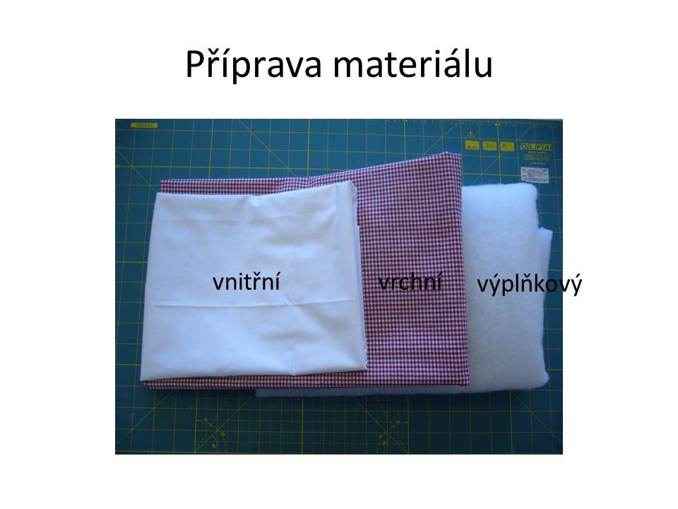 Příprava materiálu vnitřnívrchní výplňkový