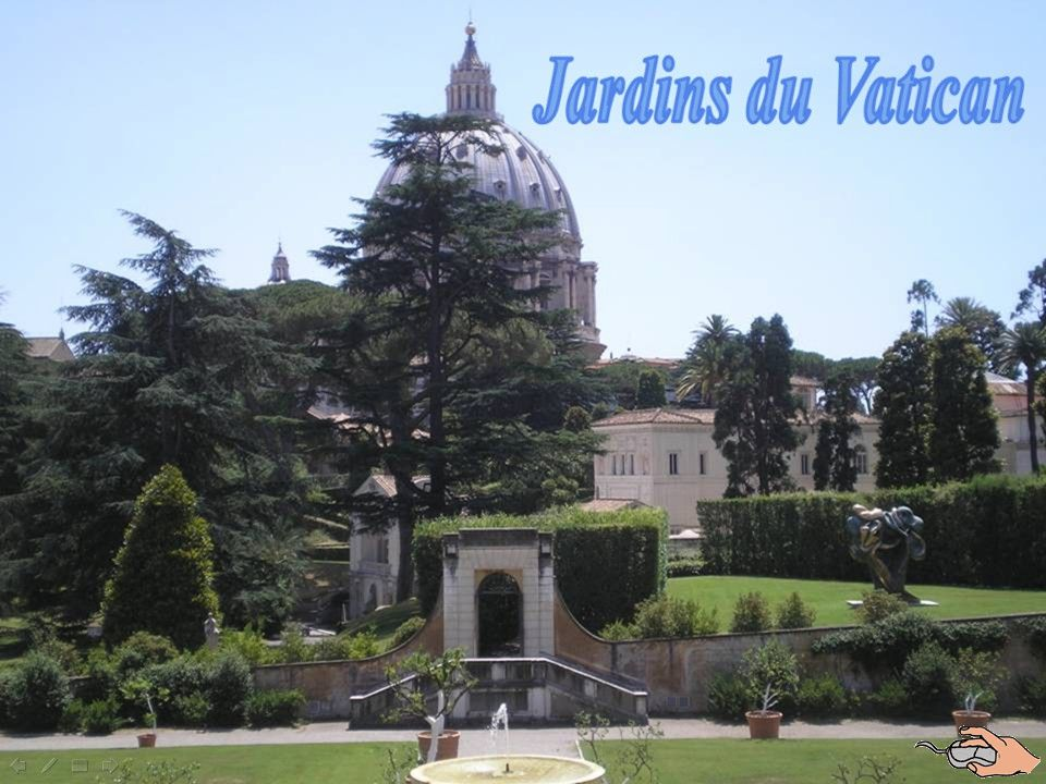 Zahrady jsou místem klidu a meditace pro papeže již od 13. století