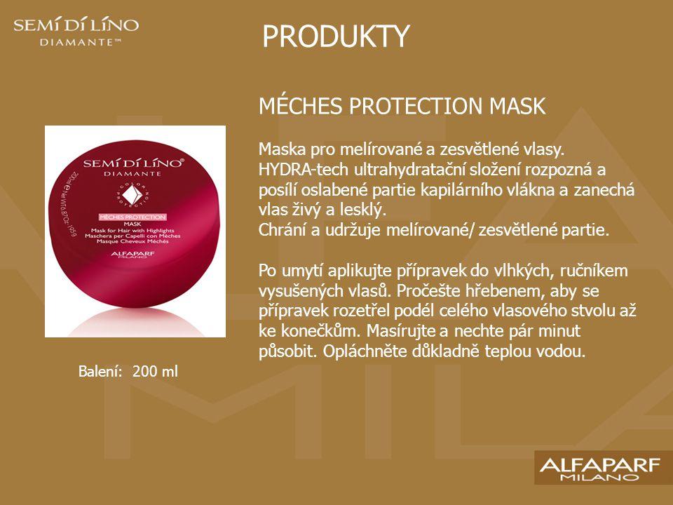 PRODUKTY MÉCHES PROTECTION MASK Maska pro melírované a zesvětlené vlasy.