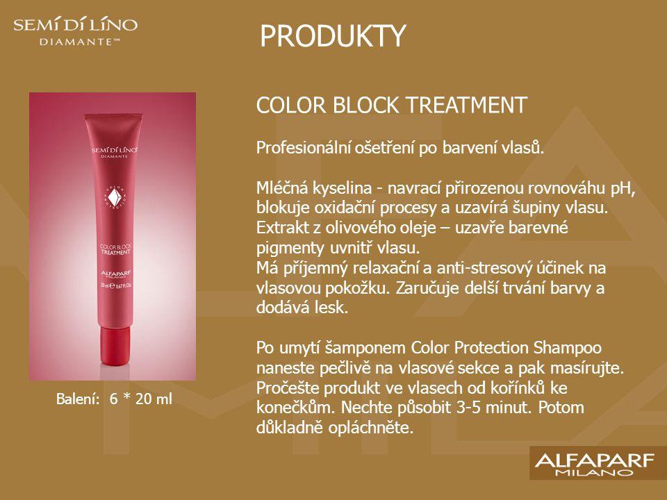 PRODUKTY COLOR BLOCK TREATMENT Profesionální ošetření po barvení vlasů.