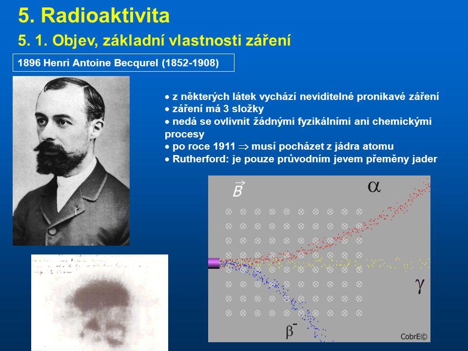 5.Radioaktivita 5. 1.