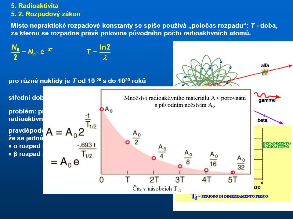 5.Radioaktivita 5. 2.