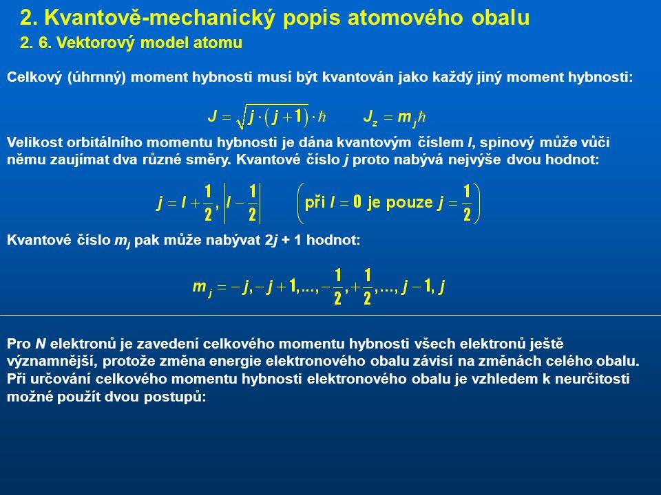 2.Kvantově-mechanický popis atomového obalu 2. 6.