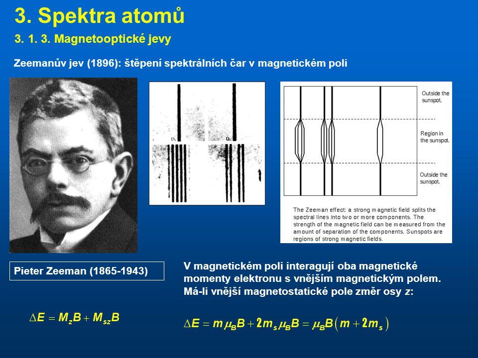 3.Spektra atomů 3. 1. 3.