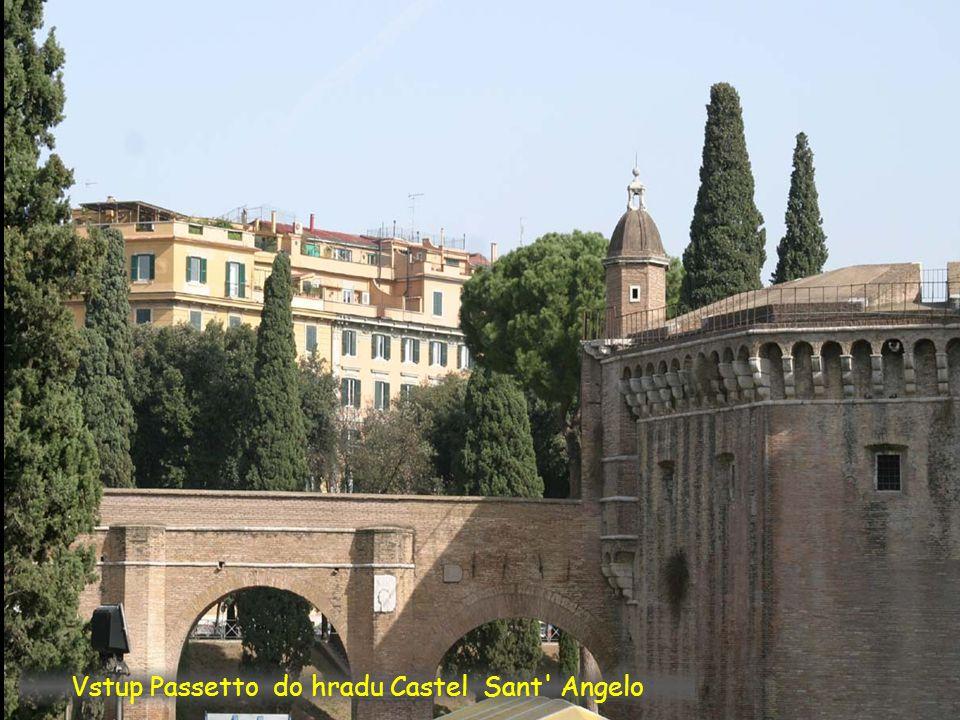 Přípojka Passetto na Castel Sant Angelo
