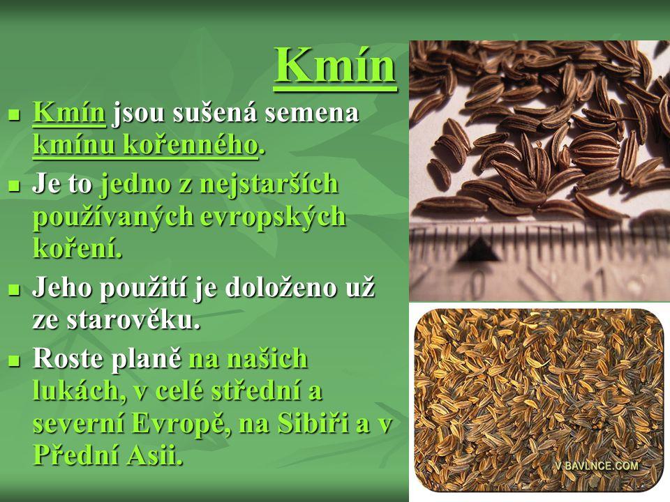 Kmín Kmín jsou sušená semena kmínu kořenného.Kmín jsou sušená semena kmínu kořenného.