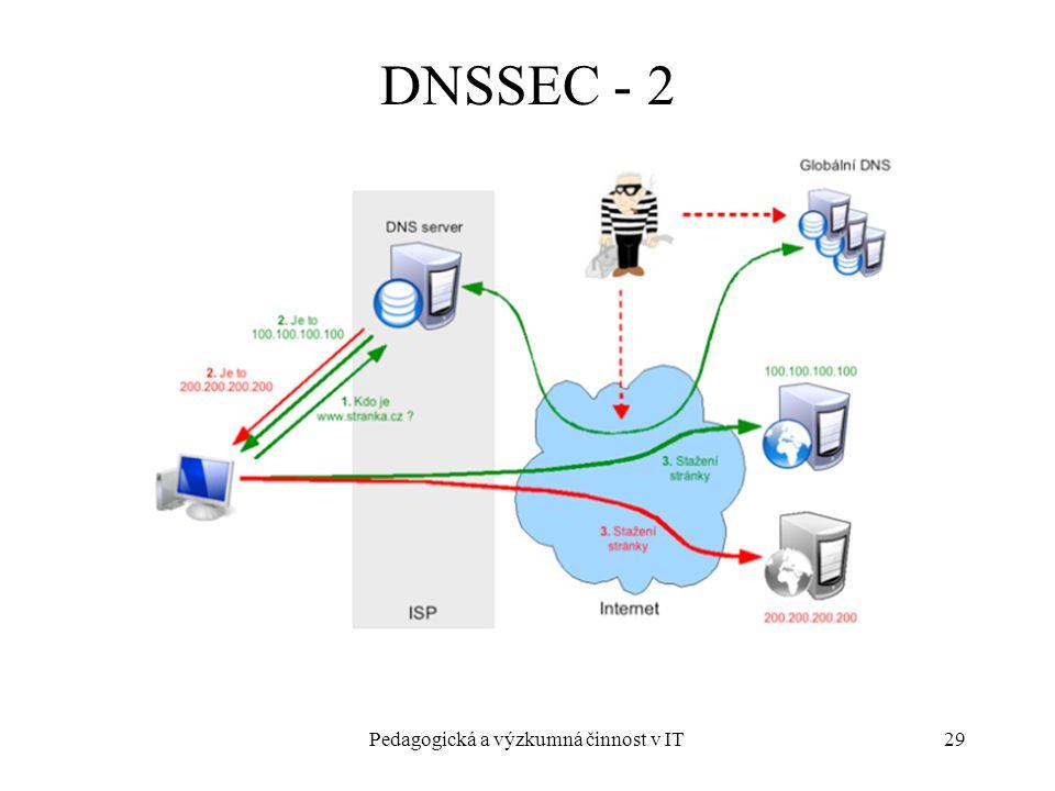 Pedagogická a výzkumná činnost v IT29 DNSSEC - 2