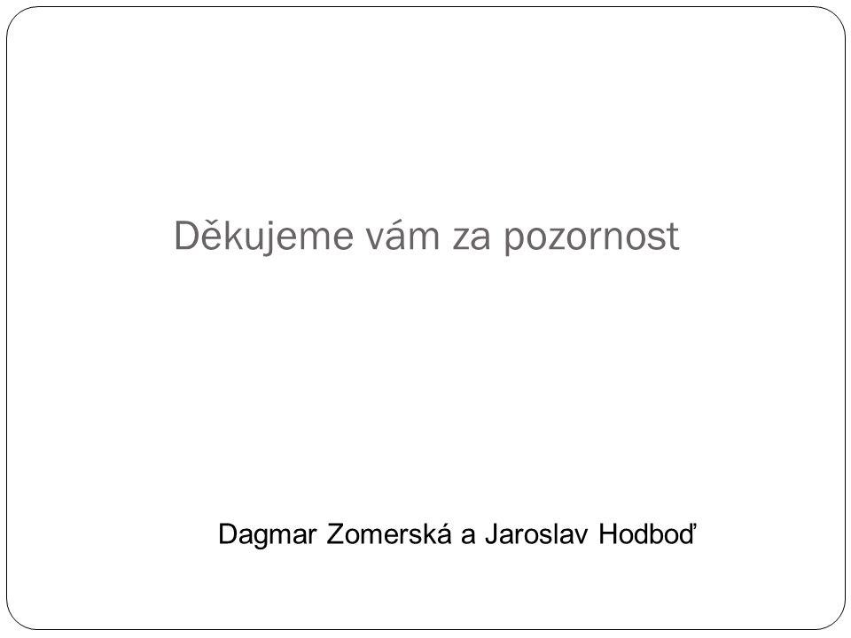Děkujeme vám za pozornost Dagmar Zomerská a Jaroslav Hodboď