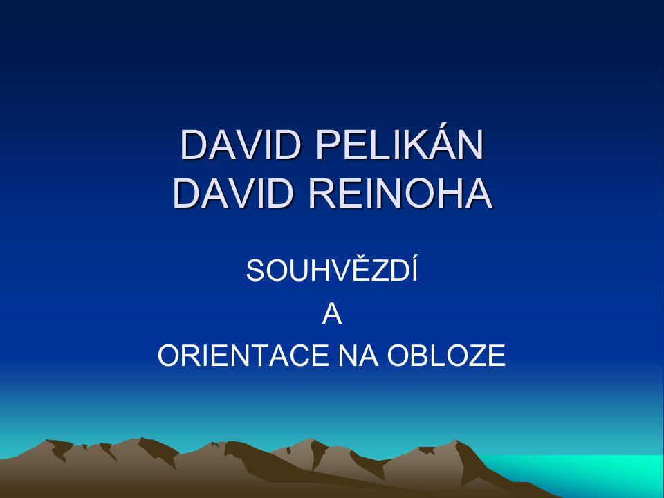 DAVID PELIKÁN DAVID REINOHA SOUHVĚZDÍ A ORIENTACE NA OBLOZE