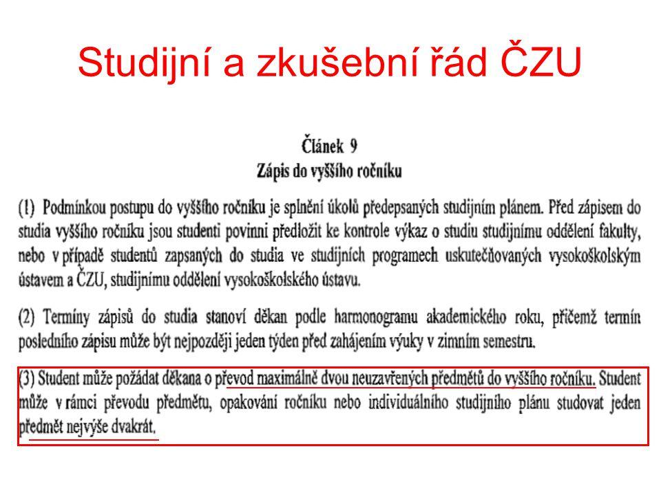 Studijní a zkušební řád ČZU