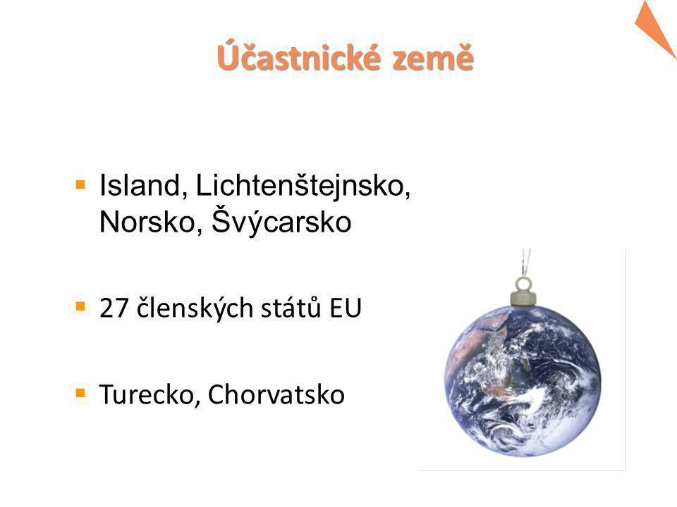 Účastnické země  Island, Lichtenštejnsko, Norsko, Švýcarsko  27 členských států EU  Turecko, Chorvatsko