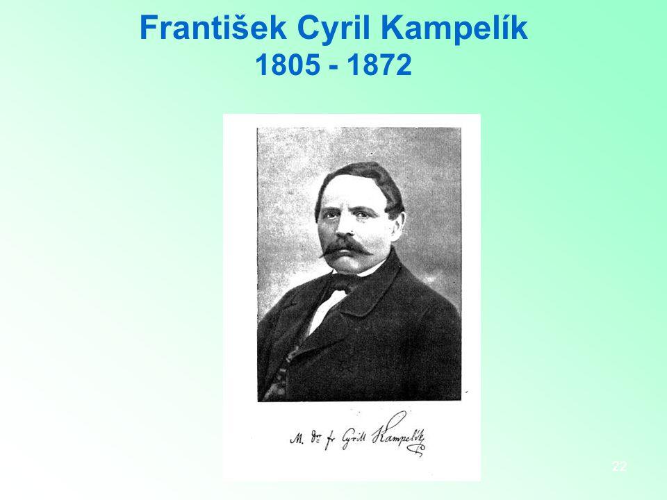 22 František Cyril Kampelík 1805 - 1872