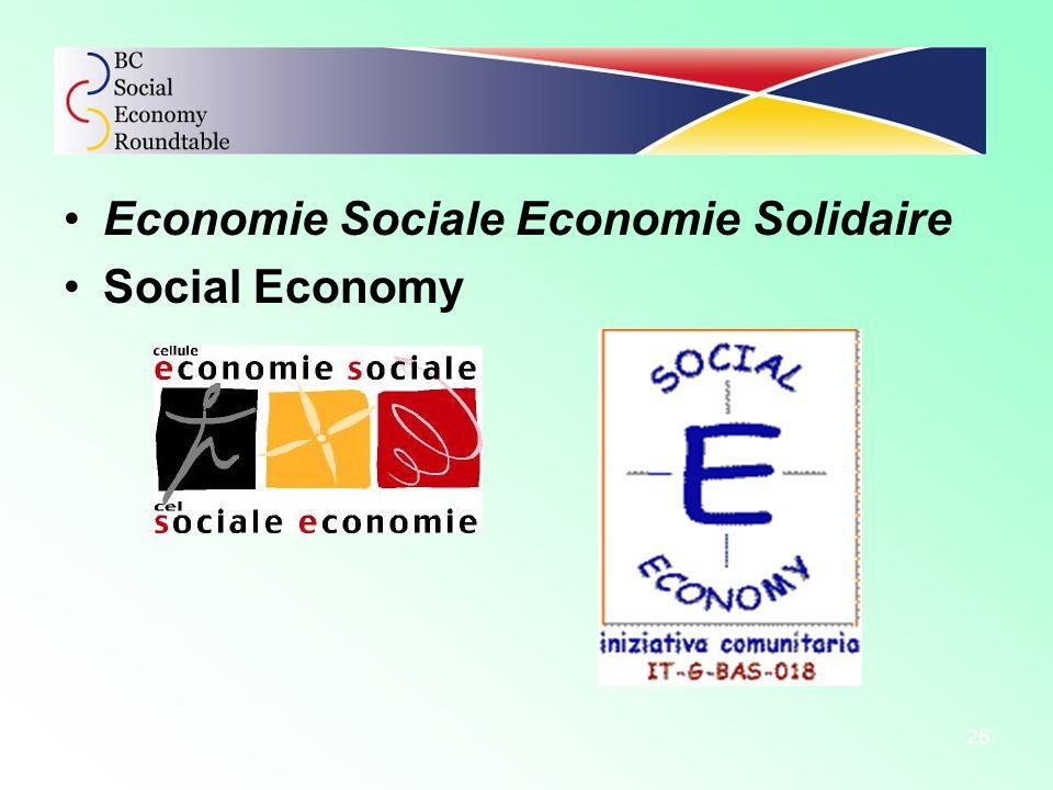 25 Economie Sociale Economie Solidaire Social Economy