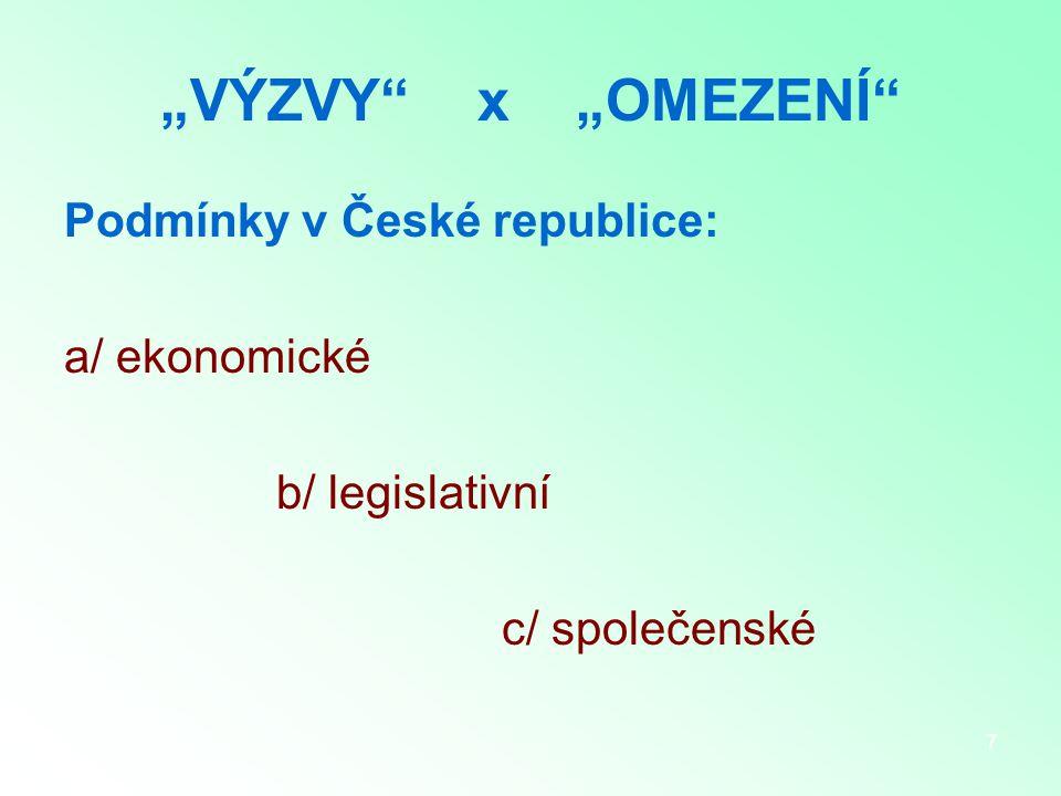 8 Subjekty v ČR I.