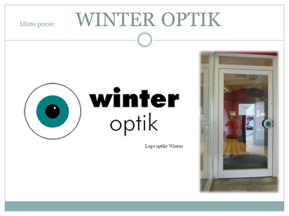 Místo praxe: WINTER OPTIK Logo optiky Winter