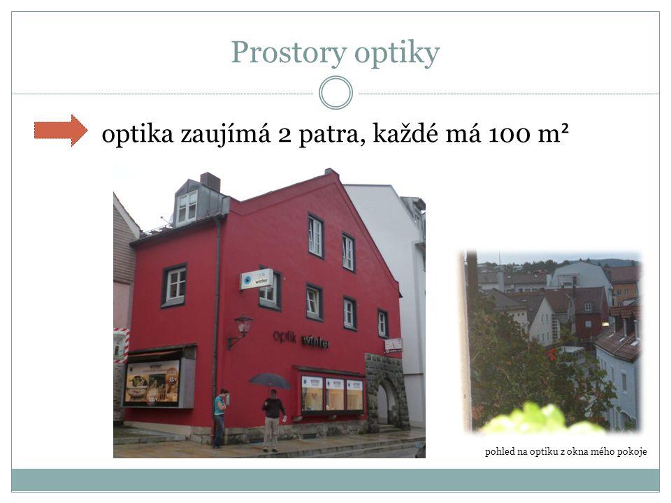 Optika z venku - výlohy