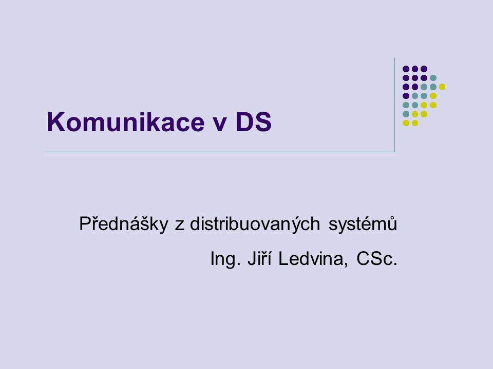 Komunikace v distribuovaných systémech12 Spolehlivé bcast protokoly Spolehlivé broadcast protokoly klient nezná složení skupiny složení skupiny se mění v čase vzájemná komunikace členů skupiny vzájemná koordinace činnosti