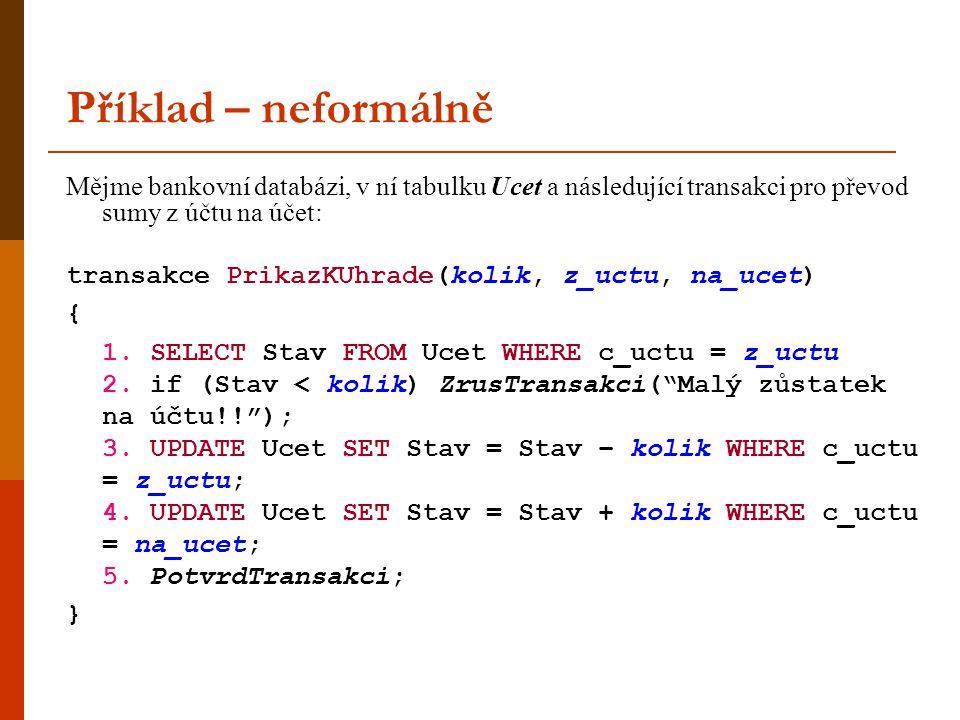 Fantom  nyní uvažujme dynamickou databázi, tj.do databáze lze vkládat a z databáze mazat (tj.