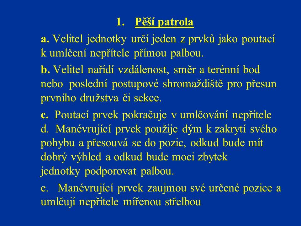 1.Pěší patrola a.