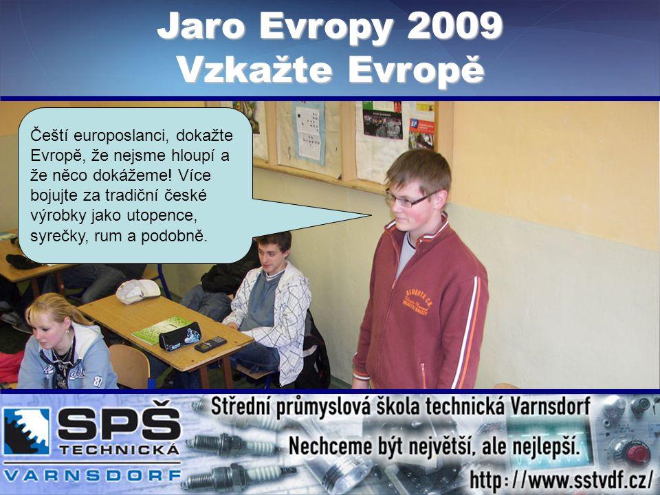 Čeští europoslanci, dokažte Evropě, že nejsme hloupí a že něco dokážeme.
