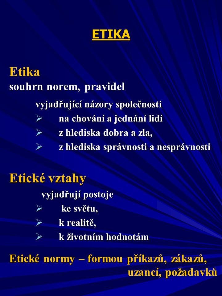 Etika Etika Etika a chování jedinců Zdroj : Etzioni, A. ( 1995), s.61