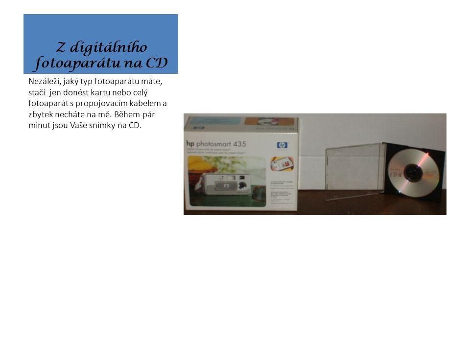 Z Hi8 a miniDV na DVD Nebo i z paměťové karty, kterou donesete.