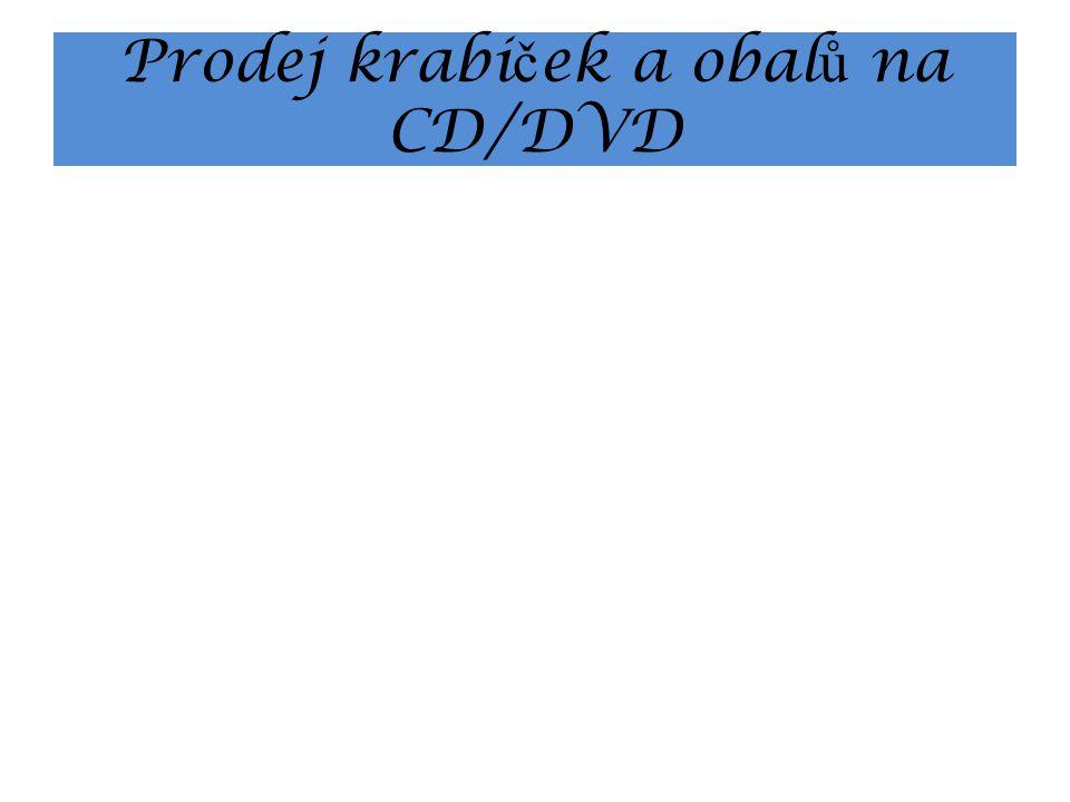 Prodej krabi č ek a obal ů na CD/DVD