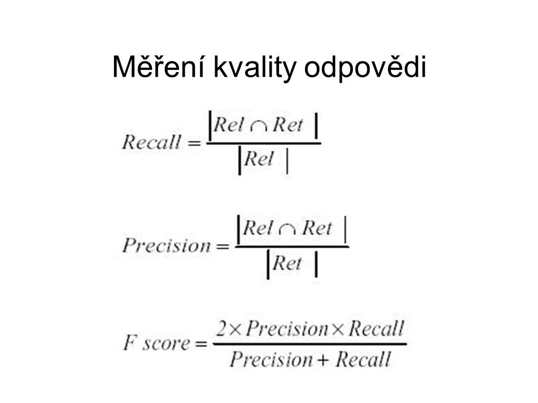Měření kvality odpovědi