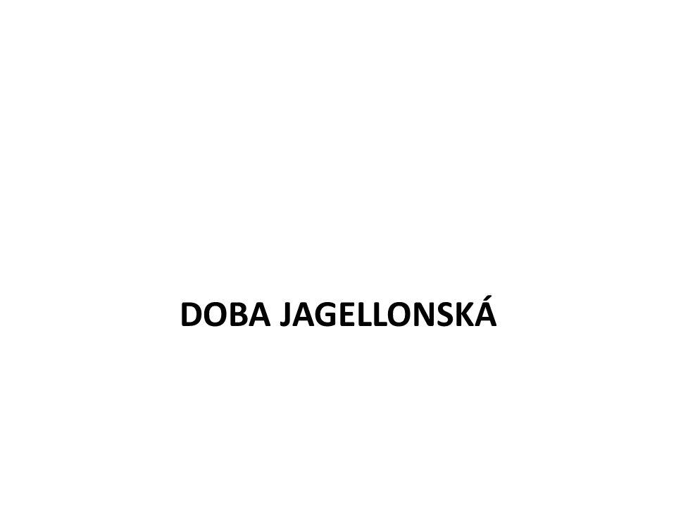 Vladislav Jagellonský 1471 - Vladislav Jagellonský český král VJ – katolík, z královského rodu >< Matyáš Korvín se nechtěl vzdát koruny = vláda rozdělena mezi oba: Vladislav panoval v Čechách, Matyáš ve vedlejších zemích Koruny české (Morava,Slezsko,Lužice) 1485 – kutnohorský mír = zrovnoprávnění katolictví a kališnictví 1490 MC umírá bez dědice – Vladislav připojil k Čechám vedlejší země Koruny české a byl zvolen uherským králem
