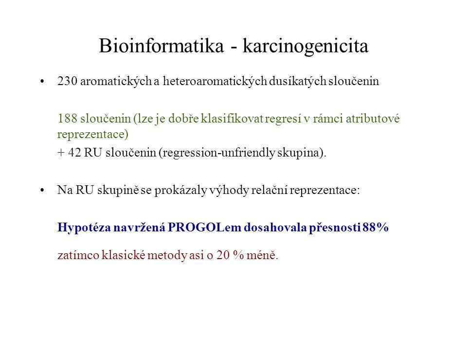 Bioinformatika - prostor. uspořádání bílkovin Bílkoviny = řetězce aminokyselin tvořících složité prostor. útvary. Posloupnost aminokyselin = primární