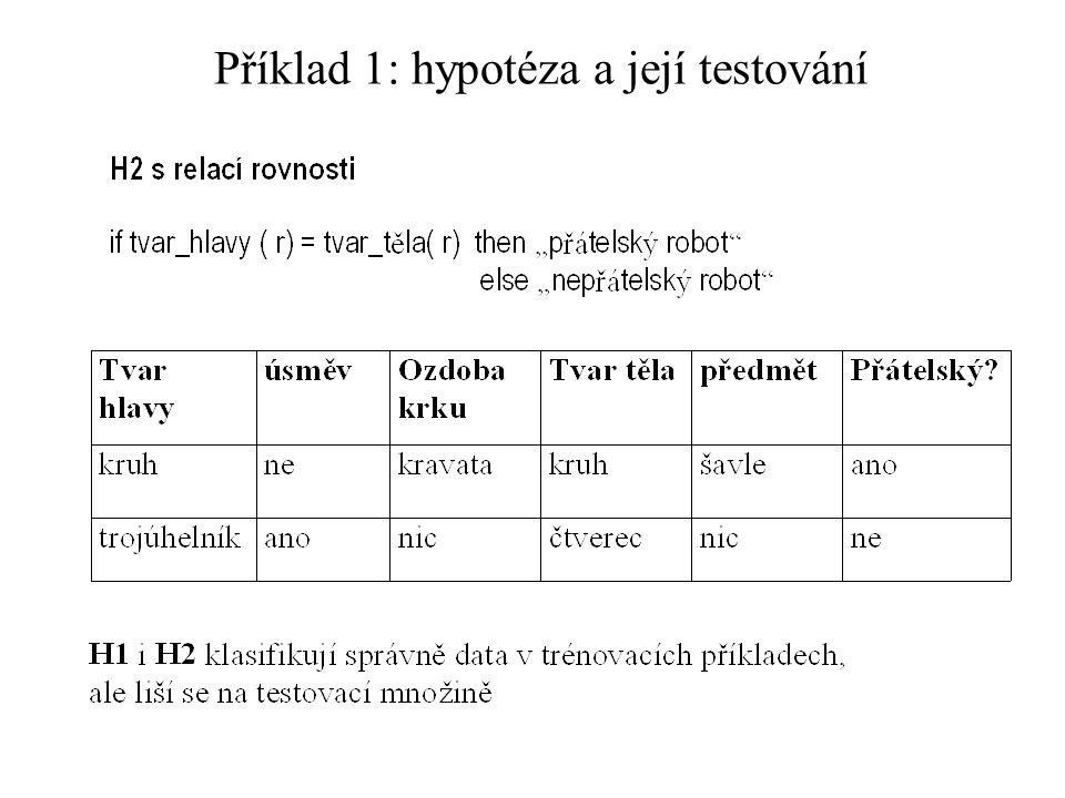 Příklad 1: hypotéza a její testování