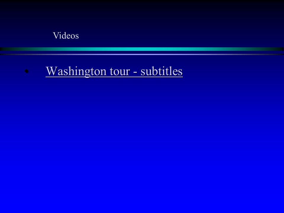 Washington tour - subtitlesWashington tour - subtitlesWashington tour - subtitlesWashington tour - subtitles Videos