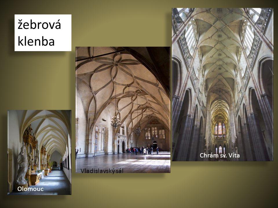 žebrová klenba Chrám sv. Víta Olomouc Vladislavský sál