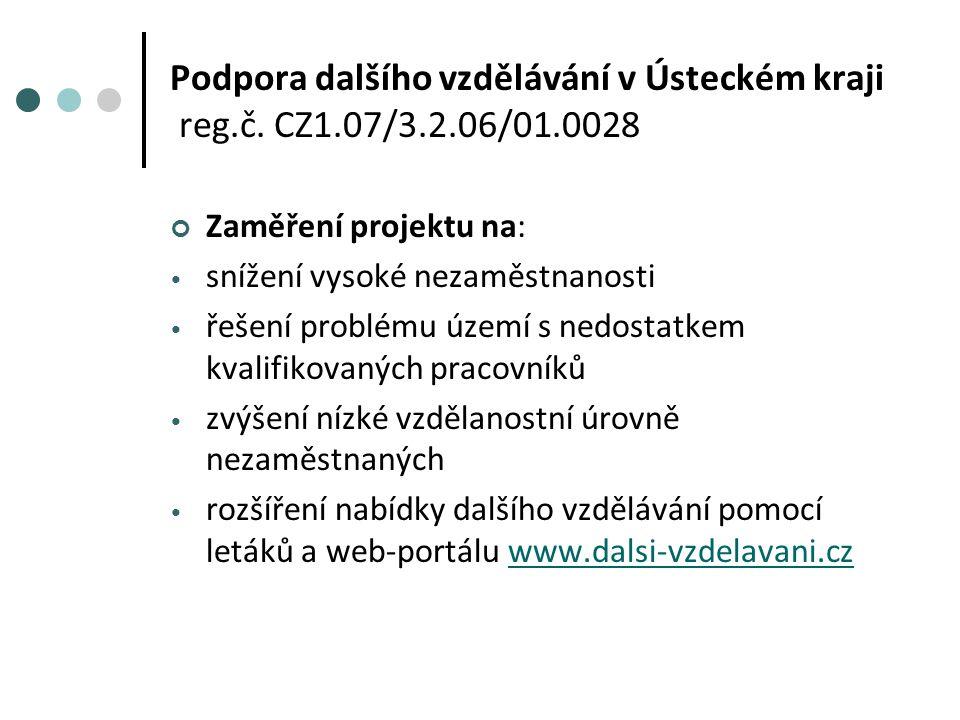 Podpora dalšího vzdělávání v Ústeckém kraji reg.č.