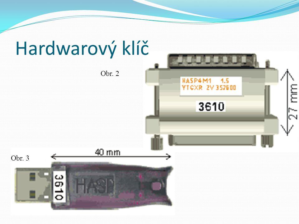 Hardwarový klíč Obr. 2 Obr. 3