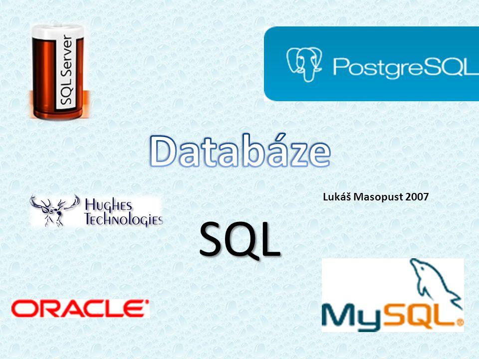 SQL Lukáš Masopust 2007