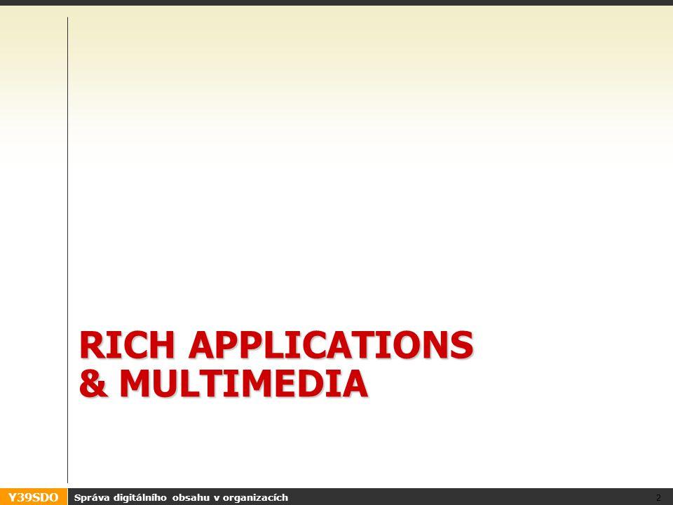 Y39SDO RICH APPLICATIONS & MULTIMEDIA Správa digitálního obsahu v organizacích 2