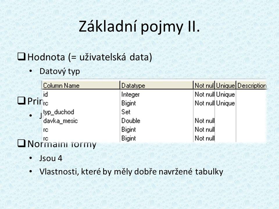 Základní pojmy II.